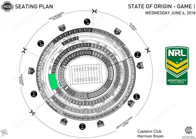 MCG Harrison Room State of Origin Map