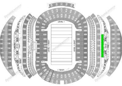 ANZ Stadium 14 seater Suite Map