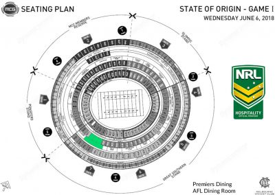 MCG AFL Dining Room Map - 2018 State of Origin