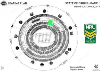 MCG Olympic Room State of Origin Map